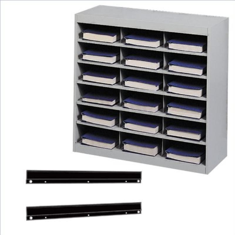 Safco Products 9264GR E-Z Stor Steel Project Organizer 18 Compartment Gray