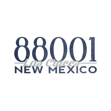 Las Cruces, New Mexico - 88001 Zip Code (Blue) Print Wall Art By Lantern Press](Party City Las Cruces)