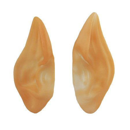 Pointed Elf LARP Vulcan Costume Prosthetic Ear Tips Space Alien Ears Covers (Elf Ear)