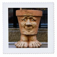 3dRose Netherlands, Zeeland, Middelburg, Pot - EU20 CMI0446 - Cindy Miller Hopkins - Quilt Square, 10 by 10-inch