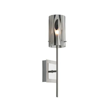 Varaluz - Chroman Empire - 1 Light Wall Sconce - Chrome Finish - Two-Layer Smoky Chrome Glass
