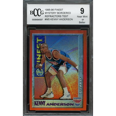 1995 96 Finest Mystery Bordered Refractors Test  M5 Kenny Anderson Bgs Bccg 9