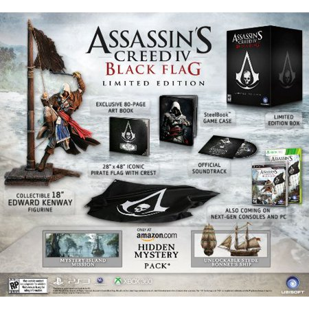 Assassin's Creed IV: Black Flag Limited Edition, Ubisoft, PlayStation 3,
