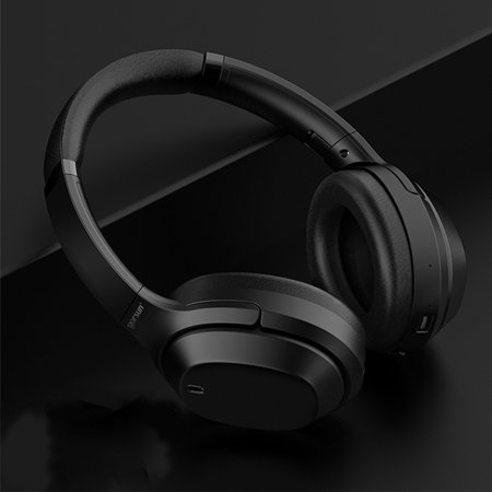 Active Noise Cancelling Headphones, Over Ear Wireless Bluetooth Headset Microphone, 25Hrs Playtime, Foldable Soft Protein Earpads Earphones for Travel Work TV PC Phone - image 3 de 9