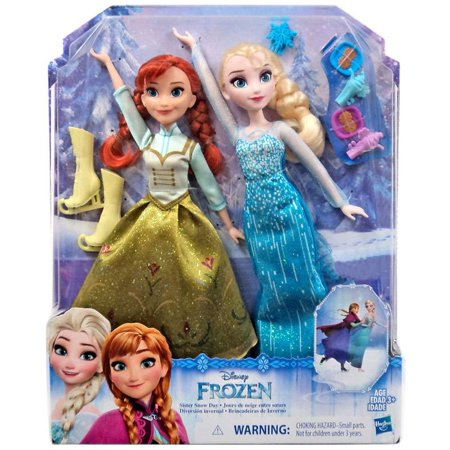Disney Frozen Sisters Snow Day Doll 2-Pack [Anna & - Elsa And Anna Dolls Walmart