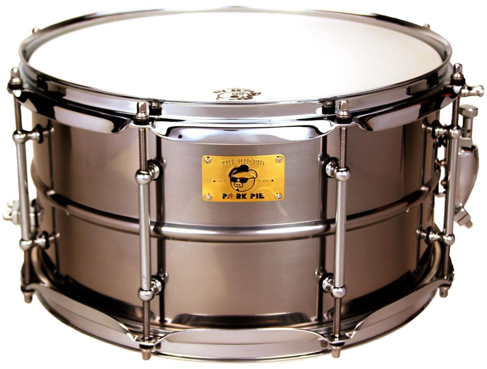 Pork Pie Polished Raw Iron Snare Drum 13 x 7 in. by Pork Pie