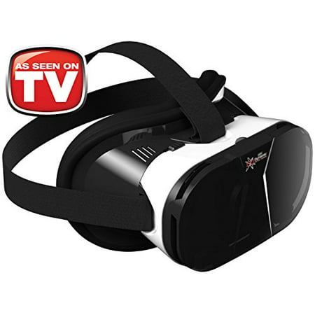 AS SEEN ON TV! Dynamic Virtual Viewer (DVV) 3D Glasses | Smartphone Video Virtual Reality VR Headset Player -- (Black/White) IOS and Android (Virtual Reality Video)