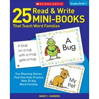 25 Read & Write Mini-Books: That Teach Word Families (Paperback)