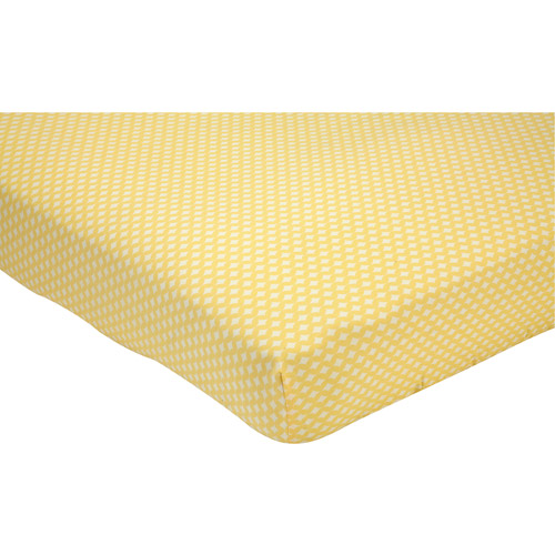 Little Bedding by NoJo Elephant Time Crib Sheet, Yellow
