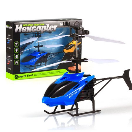 Flying Mini RC Infraed Induction Helicopter Aircraft Flashing Light Toys For
