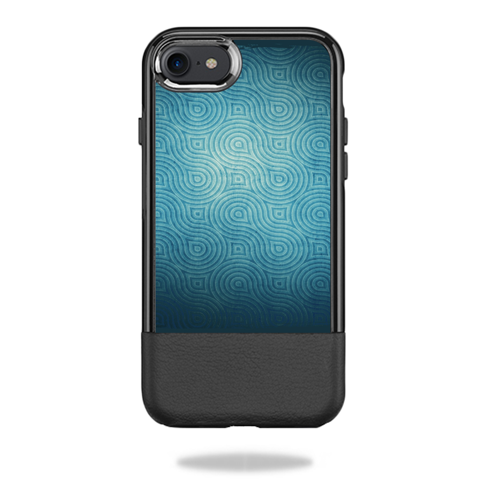 MightySkins Protective Vinyl Skin Decal for OtterBox Statement iPhone 7/7s Case  wrap cover sticker skins Blue Swirls