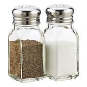 Salt and Pepper Shaker Set (Clear Glass) USA SELLER Restaurant Quality