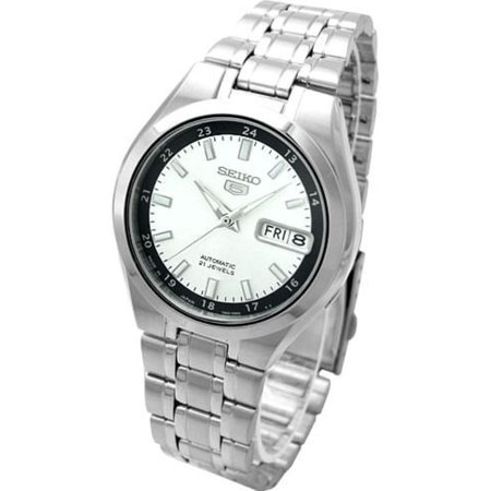 e28f3c8a4 Seiko - 5 Automatic SNKG19J1 Silver Dial Stainless Steel Men's Watch -  Walmart.com