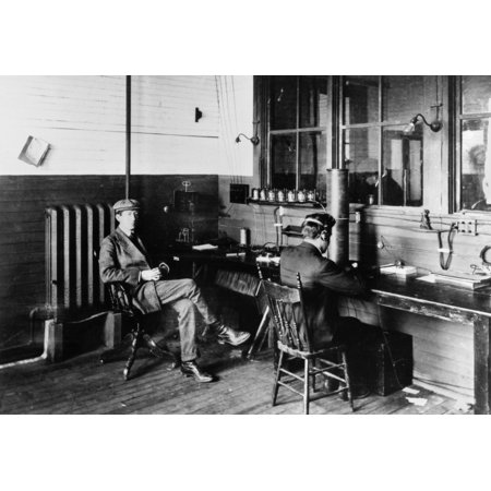 Marconi Company 1907 Nmarconis Wireless Telegraph Company Receiving Room At Glace Bay Nova Scotia Photograph C1907 Poster Print By Granger Collection