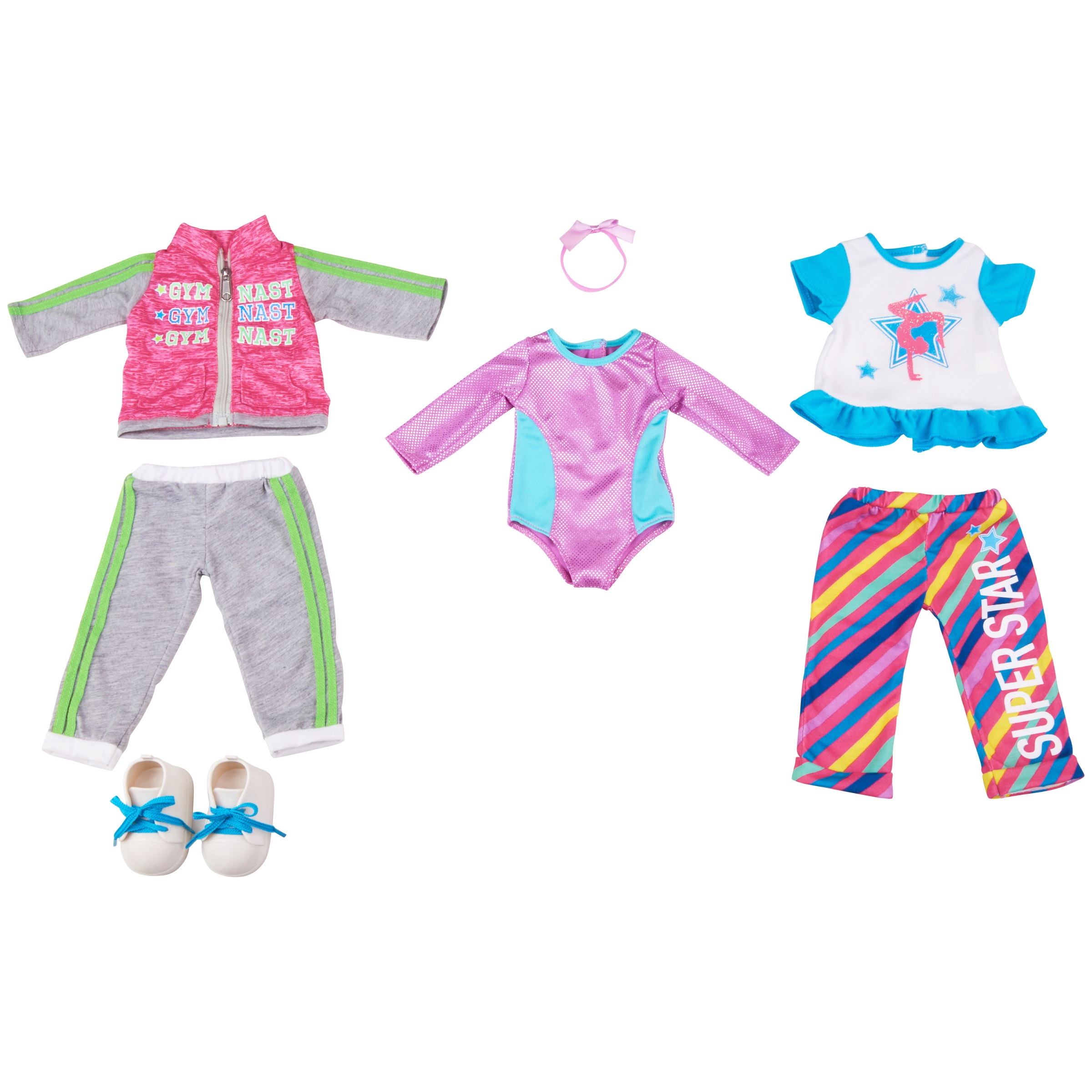 My Life As 7-Piece Gymnast Doll Outfits Set, Designed for Ages 5 and Up