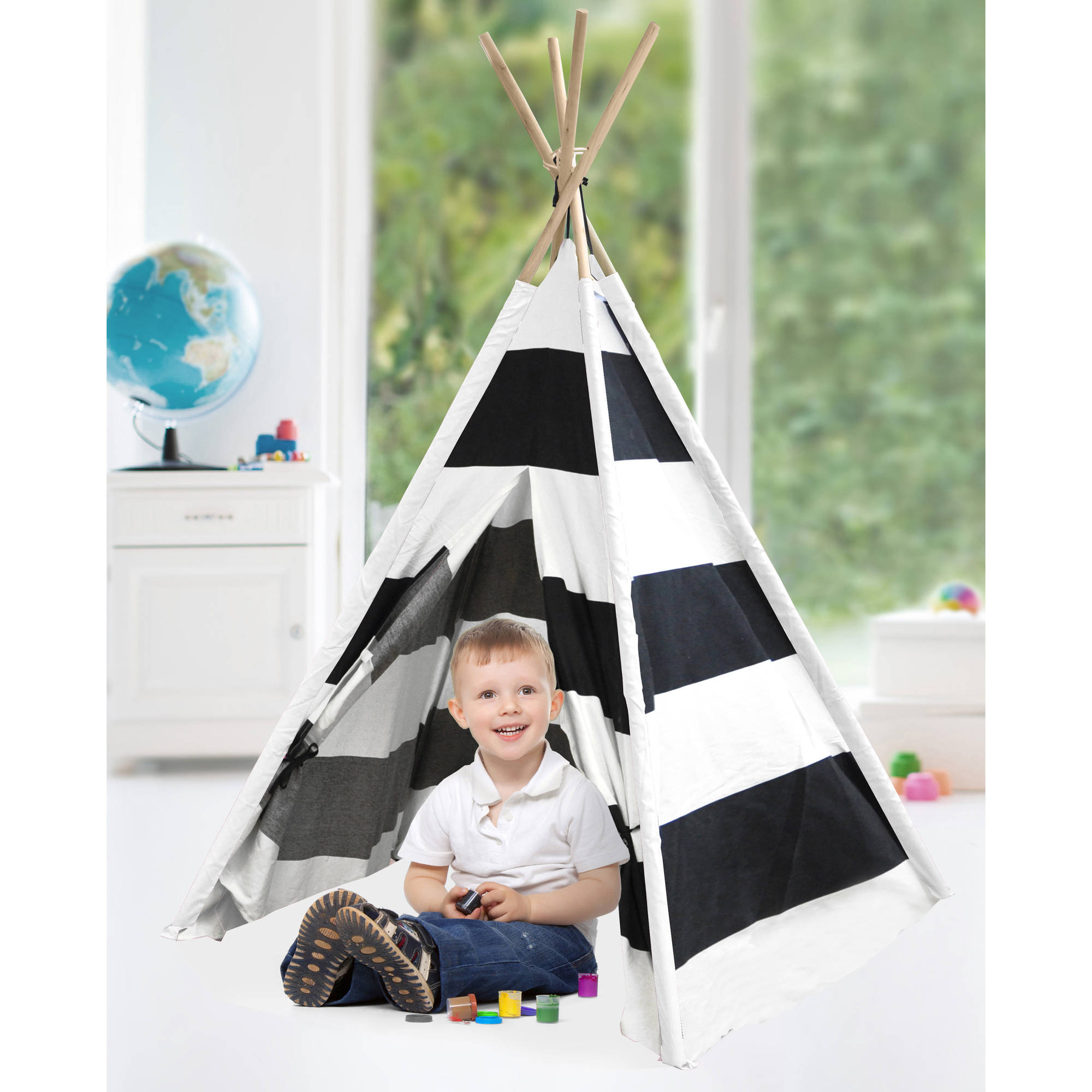 American Kids Awesome Tee-Pee Tent Rugby Stripe  sc 1 st  Walmart.com & American Kids Awesome Tee-Pee Tent Rugby Stripe - Walmart.com
