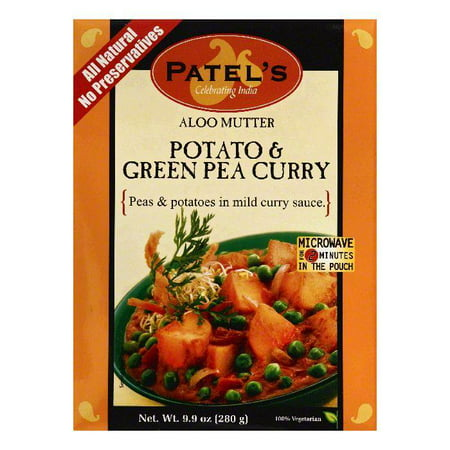 Patels Aloo Mutter Potato & Green Pea Curry, 9.9 OZ (Pack of