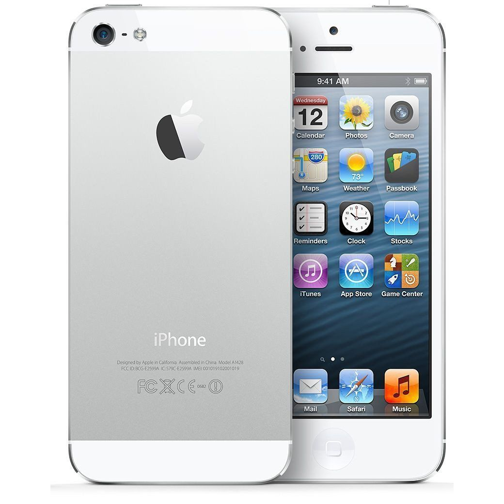 Apple iPhone 5 16gb White - Fully Unlocked (Certified Refurbished, Good Condition)