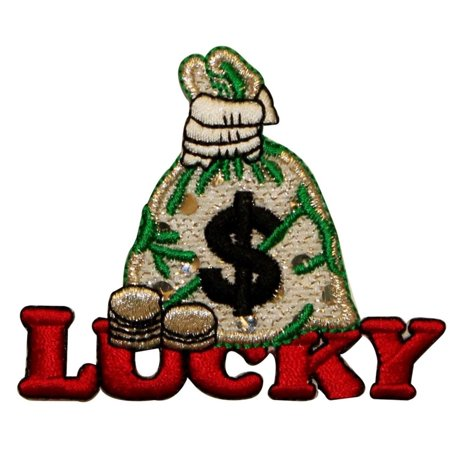 ID 0053 Lucky Bag Money Embroidered Iron On Applique Patch - Mommy Patch Products