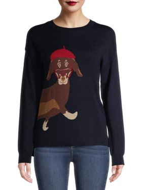 Time and Tru Women's Dachshund Sweater