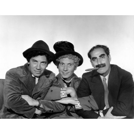 Marx Brothers - Chico Marx Harpo Marx Groucho Marx Photo