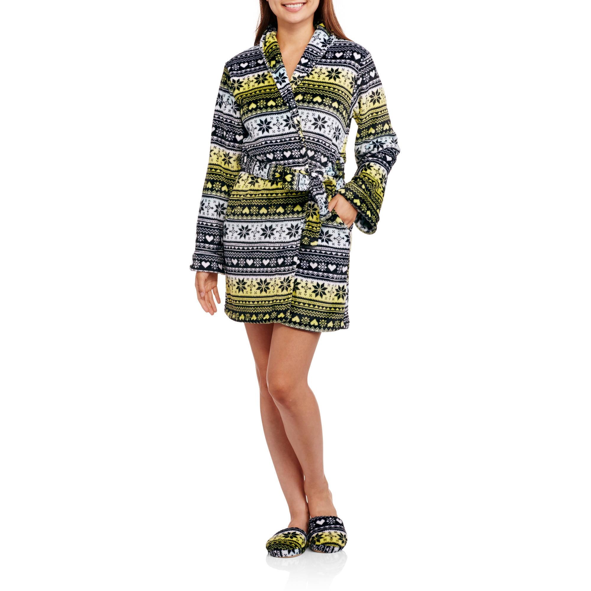Body Candy Plush Robe With Slipper Set