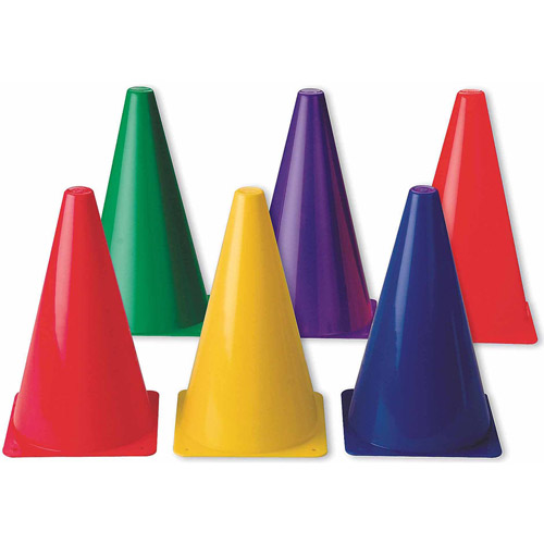 "9"" Spectrum Cones, Set of 6"