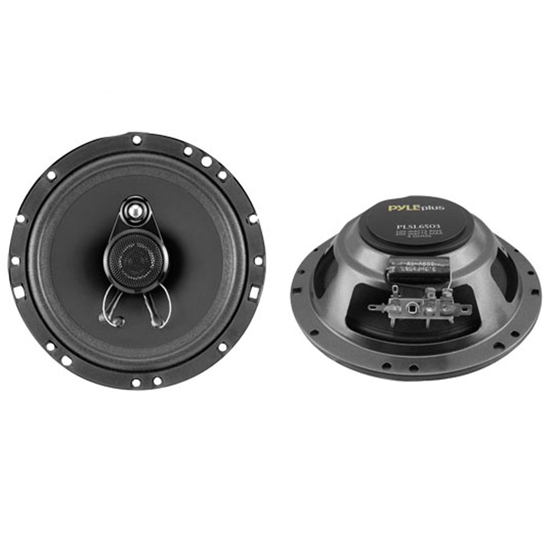 "Pyle 6.5"" 200 Watt Slim Mount Three-Way Coaxial Speakers"
