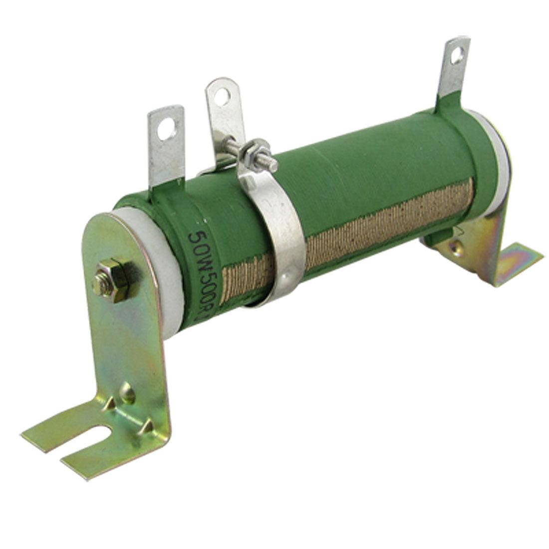 Unique Bargains 50w 500 Ohm Adjustable Wirewound Rheostat Variable