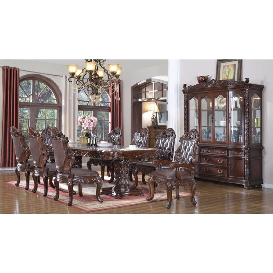 Vendome Traditional Formal Dining Room Cherry Finish: Traditional Formal Dining Room Furniture Rich Cherry