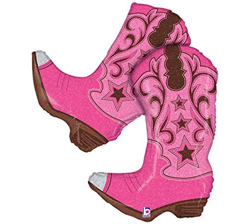 Heart My Horse /& Pink Cowgirl Boots Happy Birthday Party Balloons Decorations