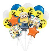 Despicable Me Minion Mayhem 18 PC Party Gift Birthday Balloon Bouquet Decoration
