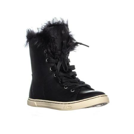 UGG Australia Croft Sheepskin Lace Up Fashion Sneakers, Black - image 6 of 6