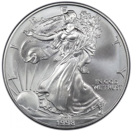 1998 American Silver Eagle 1 oz Silver Coin Hammered Silver Coins
