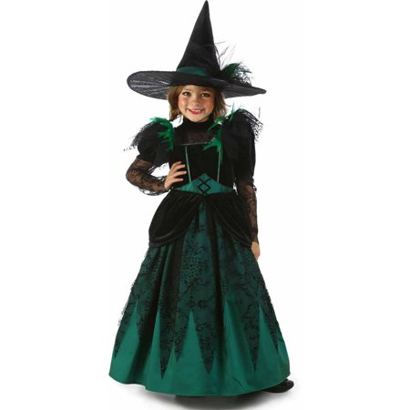 Wizard of Oz Deluxe Wicked Witch of the West Girls' Child Halloween - Girls Wizard Of Oz Costume