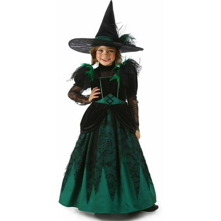 Wizard of Oz Deluxe Wicked Witch of the West Girls' Child Halloween Costume](Glinda Wicked Costume)
