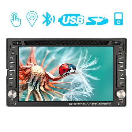 Radio Receiver Audio GPS Autoradio FM/AM Double 2 Din Car Stereo PC System Video SD USB in Dash Head Unit Car DVD Player 6.2 inch Automotive GPS Navigation