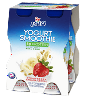 LALA Drinkable Yogurt, Strawberry Banana Cereal, 7-oz, 4 Count