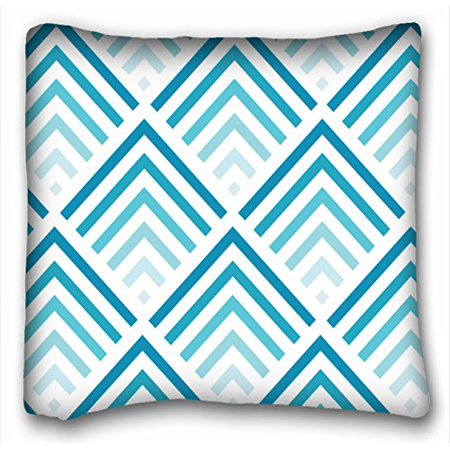 WinHome Chevron Gradient Wave Tribal Striped Geometric Pillowcase Throw Cushion Pillow Case Cover Anchor Light Blue Coral Teal Pink Mint Green Turquoise Aqua Grey Beige For Home Sofa Size 20x20 Inches