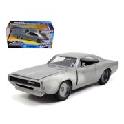 """Dom's 1970 Dodge Charger R/T Bare Metal Fast & Furious 7"""" Movie 1/24 Diecast Model Car by Jada """""""