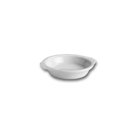 China Oval Gratin Dish (Hall China 512-W White 7 Oz. Round Au Gratin Dish - 24 / CS)
