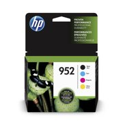 HP 952 Ink Cartridges - Black, Cyan, Magenta, Yellow, 4 Cartridges (X4E07AN)