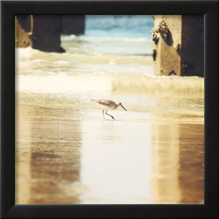 Walking on The Beach Framed Print Wall Art By Sylvia Coomes ...
