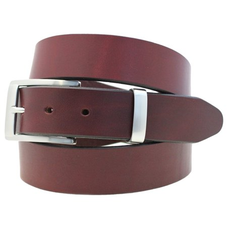 Orion Leather Men's 1 1/4 Burgundy Latigo Leather Dress Belt Buckle And Loop - Boucle Dress