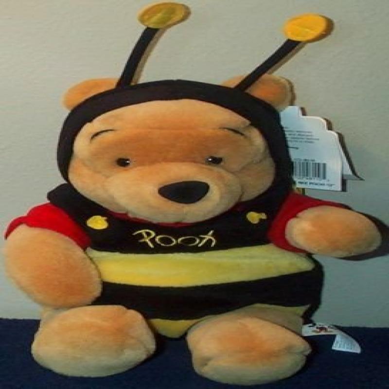 "Disney Bumble Bee Pooh 12"" Plush Bear by"