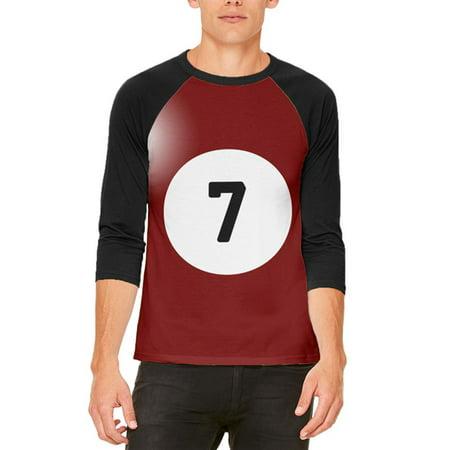 Halloween Billiard Pool Ball Seven Costume All Over Mens Raglan T Shirt - Raven's Halloween Ball