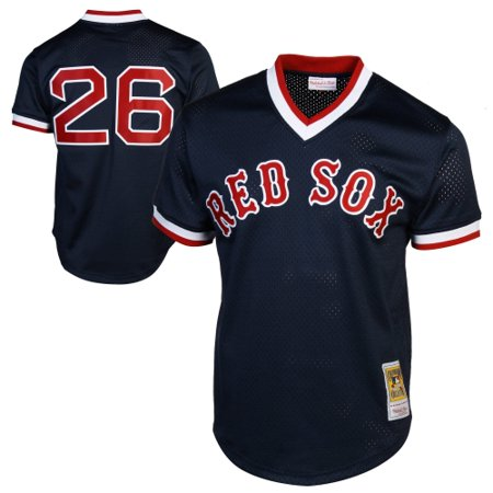 (Mitchell & Ness Wade Boggs Boston Red Sox 1992 Authentic Cooperstown Collection Batting Practice Jersey - Navy Blue)