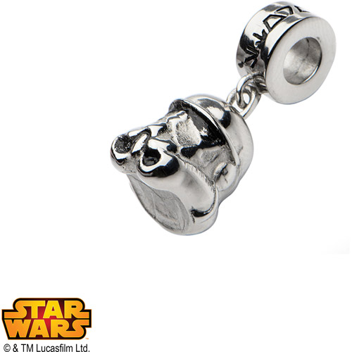 Disney Stainless Steel Star Wars 3D Storm Trooper Dangle Charm
