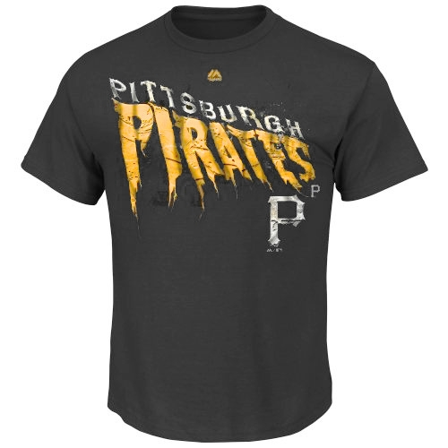 Pittsburgh Pirates Majestic Imposing Your Will T-Shirt - Black