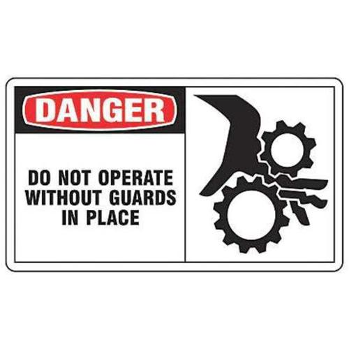 ACCUFORM SIGNS MEQM022VS Danger Sign, 7 x 10In, R and BK/WHT, ENG
